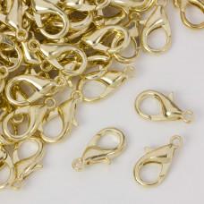 Karabińczyk w kolorze złotym 16mm