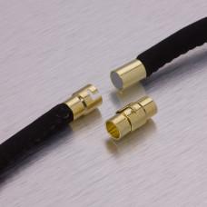 Zapięcie magnetyczne z zabezpieczeniem w kolorze złotym 5,5mm