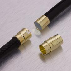Zapięcie magnetyczne z zabezpieczeniem w kolorze złotym 9,5mm