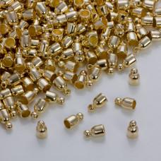 Drobne gładkie końcówki w kolorze złotym 3.5 mm