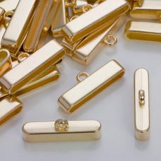 Szeroka końcówka do wielu rzemieni w złotym kolorze 37,5x7,5mm