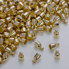 Gładka końcówka w złotym kolorze 5mm