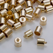 Gładkie końcówki w złotym kolorze 8,5mm