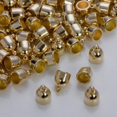 Gładkie końcówki w złotym kolorze 7mm
