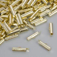 Końcówki w kolorze złotym do płaskich bransoletek 16.5x3.5mm