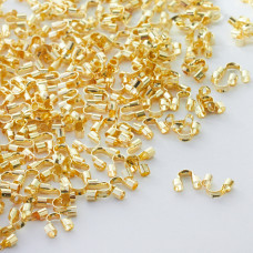 Końcówki do linek typu pętelka złote 5mm