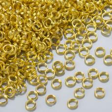 Kółeczka sprężynki light gold 5mm