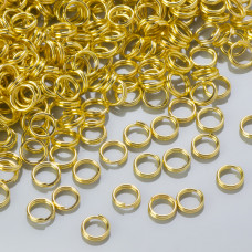 Kółeczka sprężynki light gold 6mm