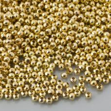 Kulki gładkie w kolorze złotym 2mm