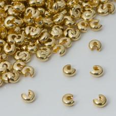 Crimpcover  gładki w kolorze złotym 5mm