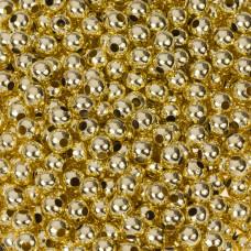 Kulki gładkie w kolorze złotym 5mm