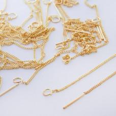 Baza do kolczyków z łańcuszkiem złota 9,5mm