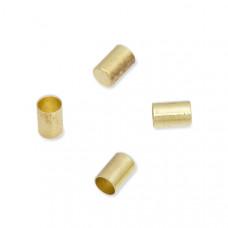 Końcówki do wykańczania rzemieni i sznurków w kolorze złotym 5x3mm