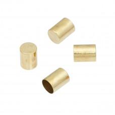Końcówki do wykańczania rzemieni i sznurków w kolorze złotym 7x5mm