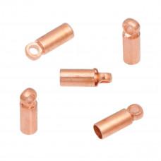 Końcówki do rzemieni i sznurków w kolorze rose gold 9x2,5mm