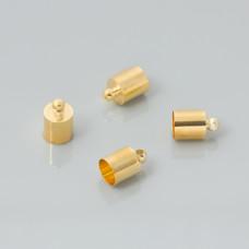 Końcówki do rzemieni light gold 5,5mm