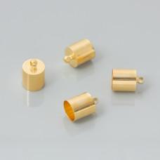 Końcówki do rzemieni light gold 8,5mm