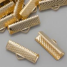 Końcówki zaciskowe szczęki real gold color 6x20mm