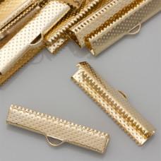 Końcówki zaciskowe szczęki real gold color 6x30mm