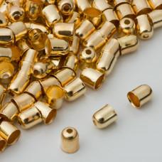 Końcówki do bransoletek naparstki z otworem 5mm