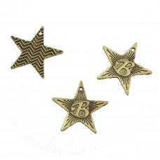Zawieszka gwiazdka dwustronna koloru złotego 21mm