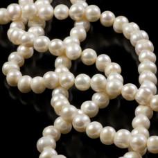 Perły naturalne baroque białe 10-11mm