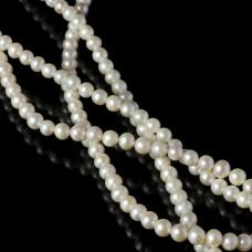 Perły naturalne okrągłe białe 5-6mm