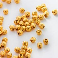 Srebrne kulki ozobne złocone AG925 4mm