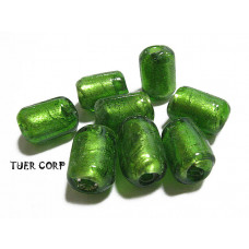 Szkło weneckie walec zielony 11mm